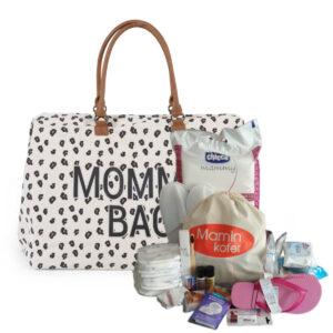 Torba Mommy Bag Big Canvas Leopard + punjenje