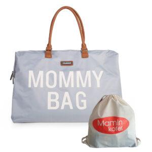 Torba Mommy Bag Big Grey Off White+SOS bundle